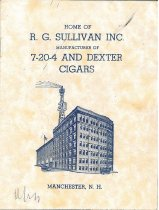 Image of Home of R. G. Sullivan Inc. Manufacturer of 7-20-4 and Dexter Cigars, Manchester, N.H. - 2011.044.017