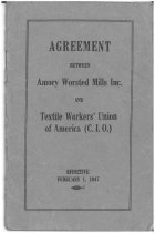 Image of Agreement between Amory Worsted Mills Inc. and Textile Workers' Union of America (C.I.O.) - 2011.060.001