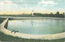 Image of Postcard, Reservoir and Weston Observatory, Manchester, N.H. - 2011.515.006