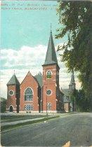 Image of Postcard, St. Paul's Methodist Church and Baptist Church, Manchester, N.H. - 2012.027.001