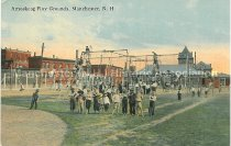 Image of Postcard, Amoskeag Play Grounds, Manchester, NH - 2012.027.016