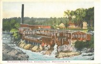 Image of Postcard, Old Cheney Paper Mills, Amoskeag Falls, Manchester, N.H. - 2012.027.039