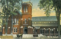 Image of Postcard, Manchester, N.H., City Library - 2012.050.007