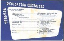 Image of Dedication Exercises - 2012.077.030