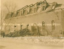 Image of Manchester Turn Verein Hall After the Fire- January 25th, 1936 - 2012.086.024