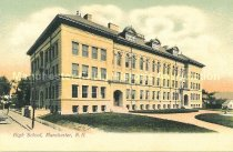 Image of Postcard, High School, Manchester, N.H. - 2012.500.003