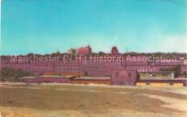 Image of Postcard, Amoskeag Industries, Hotel Carpenter in background, Manchester, NH - 2012.514.001