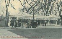 Image of Postcard, L.M. Folsom's Store, Merrimack Common, Manchester, N.H. - 2012.514.027