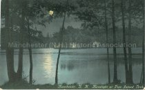 Image of Postcard, Manchester, N.H., Moonlight at Pine Island Park - 2012.514.042