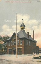 Image of Postcard, Fire King Engine House, West Manchester, N.H. - 2012.514.055