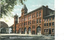 Image of Postcard, Manchester, N.H., Central Fire Station - 2012.514.056