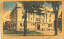 Image of Postcard, View of the Masonic Temple, Manchester, N.H. - 2012.514.082