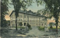 Image of Postcard, High School, Manchester, N.H. - 2013.005.036