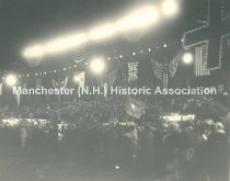 Image of Amoskeag Red Cross Carnival at Night  - 1918 - 2013.505.012