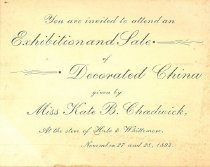 Image of Exhibition and Sale of Decorated China  at Hale & Whittemore - 2013.511.003