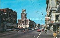 Image of Postcard, Elm St., Manchester, NH - 2013.519.015