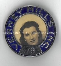 Image of Verney Mills Employee Badge for Jeanne d'Arc Gingras - 2014.057.011