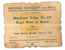 Image of Second Concert and Ball Tickets - Loyal Order of Moose - 2015.011.009-010