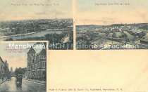 Image of Postcard, Three Views of Manchester - 2015.039.001