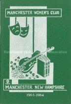 Image of Manchester Women's Club Program- 1963-64 - 2016.023.004