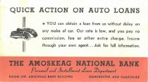 Image of Ink Blotter Advertisement for The Amoskeag National Bank - 2016.023.022