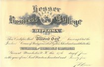 Image of Hesser Business College Diploma for Mildred Goff- Class of 1924 - 2016.027.037