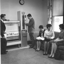 Image of Hesser College Students in the Student Lounge, Hesser College, 1950s - 2016.027.094