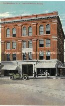 Image of Postcard, East Manchester, NH.  Dearborn Memorial Building - 2016.033.012