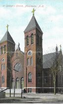 Image of Postcard, St. George's Church, Manchester, NH - 2016.033.015