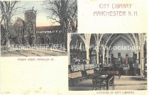 Image of Postcard, City Library, Manchester, NH - 2016.033.029