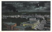 Image of Postcard, Manchester, N.H. by Moonlight - 2016.033.032