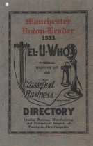 "Image of 1933 ""Tel-U-Who"" Manchester Telephone Directory - 2016.055.001"