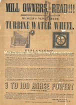 Image of Ad for Munger's New Yankee Tribune Water Wheel - 5748