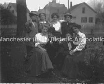 Image of Eight young women, four dressed as men - 73-054-002-003