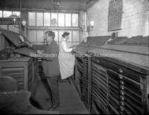 Image of Ruemely Press, Corner-Composing Room - 1912. - 1981.084.007