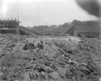 Image of Collapse of Old Amoskeag Bridge, 2 A. M. Sunday August 15, 1920 - AMCGN 1139