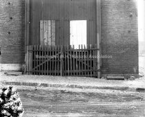Image of Gate at Old Locomotive Works, Canal & Dow Streets - AMCGN 1186