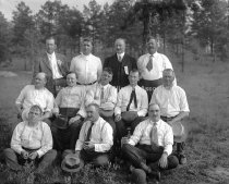 Image of Group Portrait at Cadet's Field Day, Recreation Park - MHAGN 128a