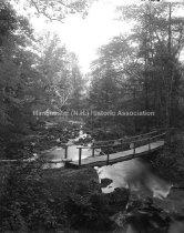 Image of Rustic Bridge, Pine Island Park, Cohas Brook - MHAGN 156