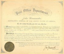 Image of Appointment of S. Anna Sterns as Postmaster at Amoskeag, N.H. - 2014.504.012