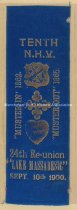 "Image of Tenth N.H.V. 24th Reunion Ribbon - ""Lake Massabesic"", 1900 - 1960.008.010"