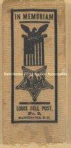 Image of Louis Bell Post Memorial Ribbon - 1973.512.002