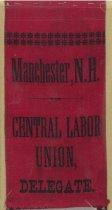 Image of Central Labor Union Delegate Ribbon - 1973.584.002