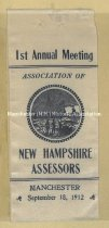 Image of Ribbon - 1st Annual Meeting - New Hampshire Assessors Annual Meeting Ribbon, 1912 - 1973.587.001