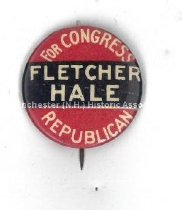 Image of Pin - Fletcher Hale for Congress  - 1975.103.037