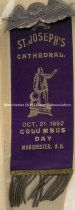 Image of Badge - St. Joseph's Cathedral - Columbus Day, 1892 - 1996.600.025