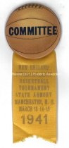 Image of Badge - New England Basketball Tournament - Manchester, N.H., 1941 - 1996.600.071