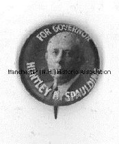 Image of Pin - For Governor - Huntley N. Spaulding, 1926 - 2010.600.028