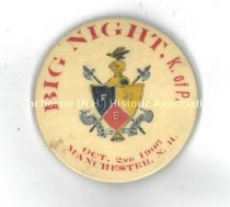 Image of Knights of Pythias Button, Manchester, N.H., 1906 - 2010.600.029