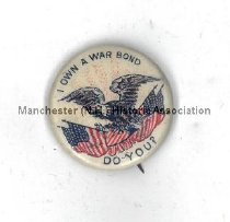 Image of Pin - I Own A War Bond - Do You? - 2010.600.085